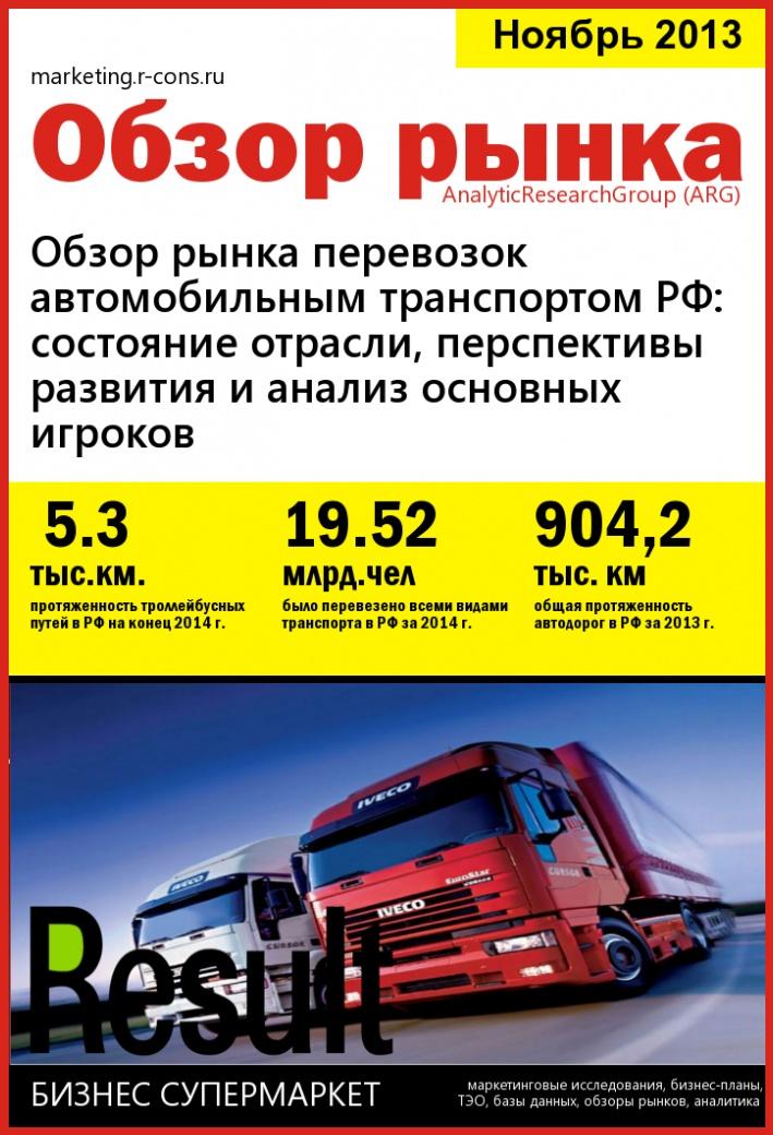 Обзор рынка перевозок автомобильным транспортом РФ: состояние отрасли, перспективы развития и анализ основных игроков